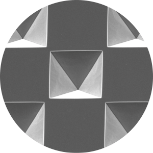 Inverse micro pyramid structures